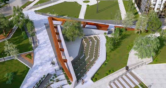 Memorial to the Heroes of the Heavenly Hundred and ATO soldiers. Image Courtesy of VTA Architects