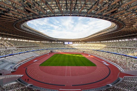 Japan National Stadium by Kengo Kuma And Associates. Image © Japan Sports Associate