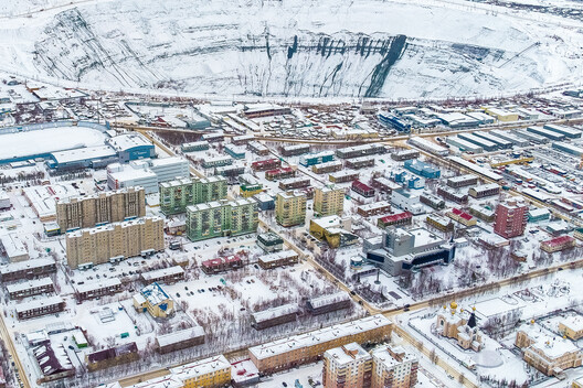 Mirny pit shaft, 525m deep and 1,200m wide, is visible from space (. Image © Alexander Veryovkin for Zupagrafika