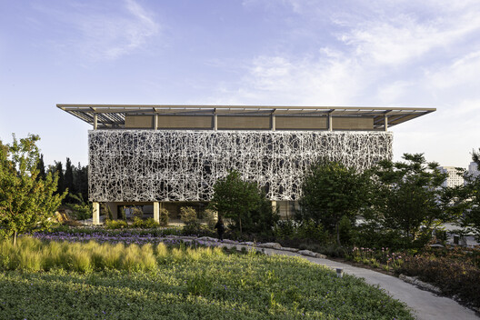 Exterior view. The building has been carefully sited amid the natural rugged setting of the campus.. Image © Studio Harel Gilboa