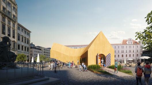 The Fuggerei Pavilion. Image Courtesy of MVRDV