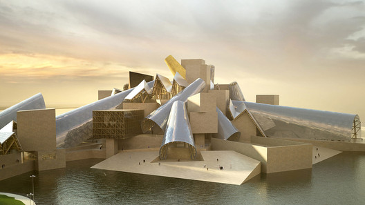 A rendering of the multifaceted Guggenheim Abu Dhabi . Image Courtesy of Gehry Partners/The Guggenheim Foundation