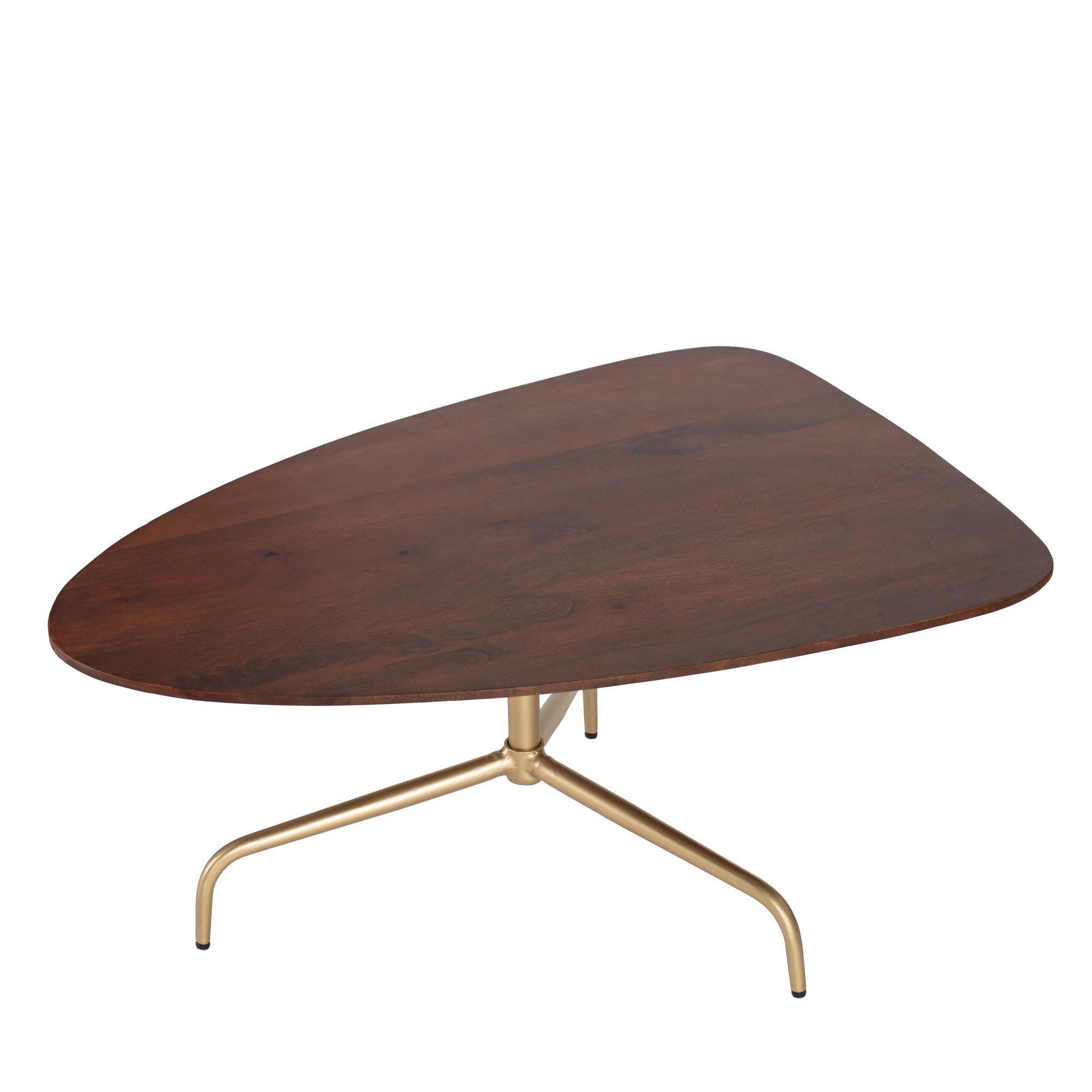 ellen iron mango wood coffee table walnut top gold bis zu 70 afound