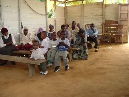 Mile 20 children in original church 008