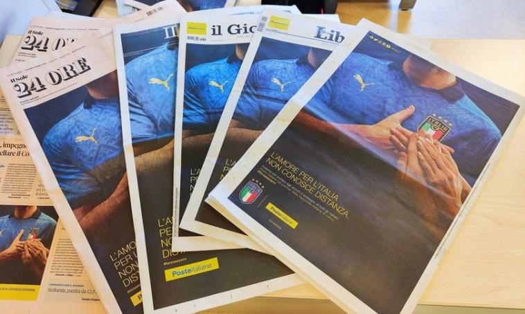 Europei: Poste veste di 'azzurro' i quotidiani italiani