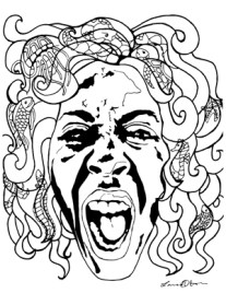 Scream Face from The Real Art Therapists of New York Coloring Book