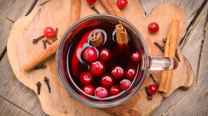Healthy Mulled Cranberry Cocktail