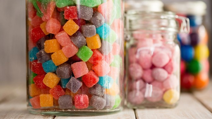 jars of candy which should be avoided for children with ADHD