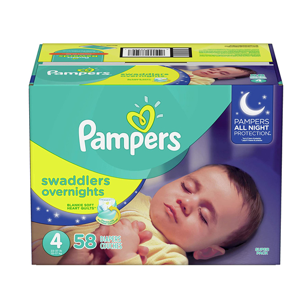 Best Overnight Diapers - Pampers Swaddlers Overnight Diapers