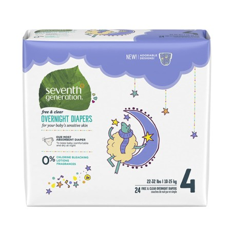 Best Overnight Diapers - Seventh Generation Baby Free and Clear Overnight Diapers