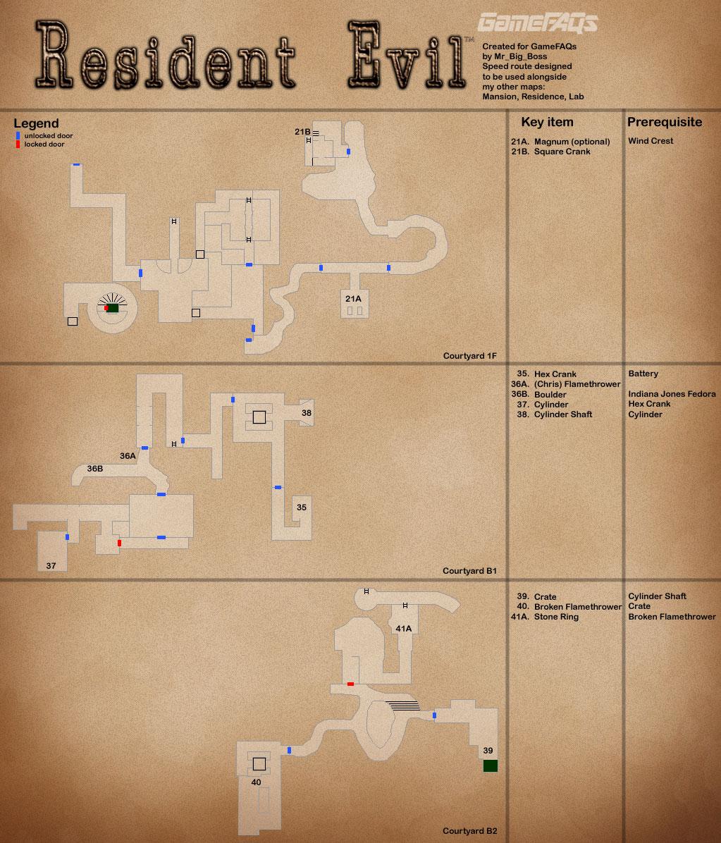 Resident Evil Remastered Map