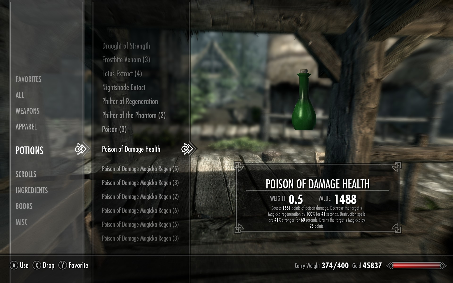 Skyrim Fortify Smithing Potion
