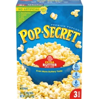 pop secret microwave popcorn premium extra butter pop and serve bags 3 3 2 oz