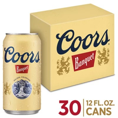 coors banquet beer lager 5 abv in cans 30 12 fl oz