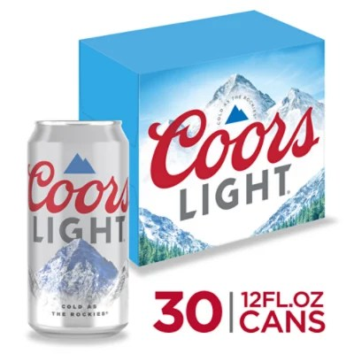 coors light beer lager 4 2 abv in cans 30 12 fl oz