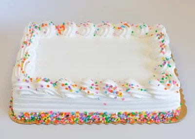White Iced Decorated Cake 1 4 Sheet Each Safeway
