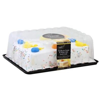 Bakery Ice Cream Cake 1 4 Sheet White Van Iced 77 Oz Safeway