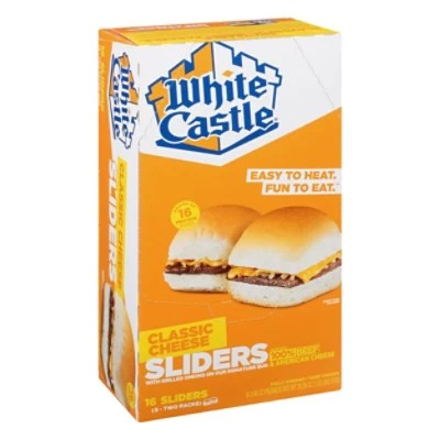 white castle microwaveable cheeseburgers 16 count