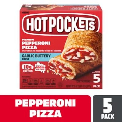 hot pockets sandwiches seasoned crust pepperoni pizza 5 count 22 5 oz