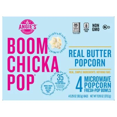 angies boomchickapop popcorn microwave real butter 4 3 29 oz
