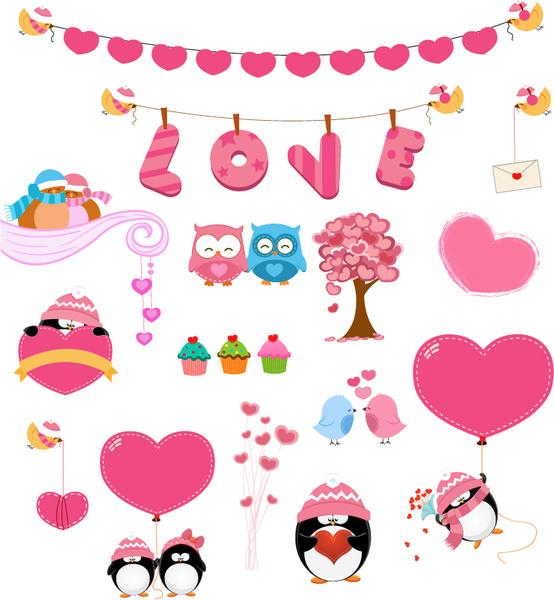 Download 15 love pink design elements vector Free vector in ...