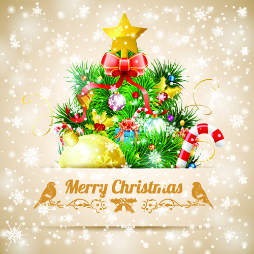 Merry Christmas Card Template Free Vector Download 30409