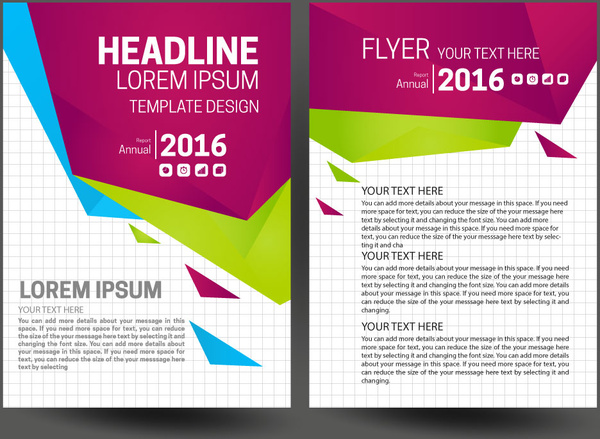 Annual Report Cover Page Free Vector Download 6798 Free