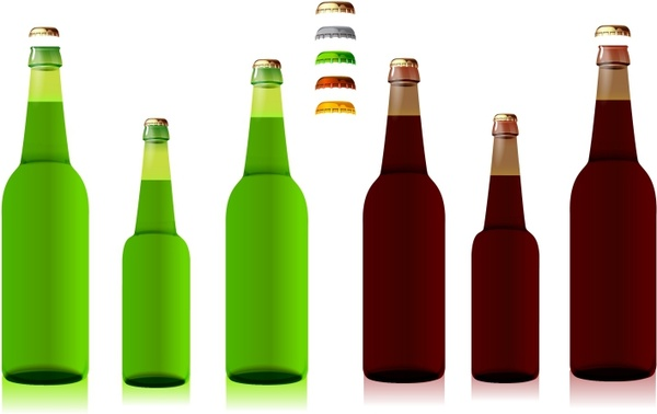 Download Beer Bottles Free vector in Adobe Illustrator ai ( .AI ...