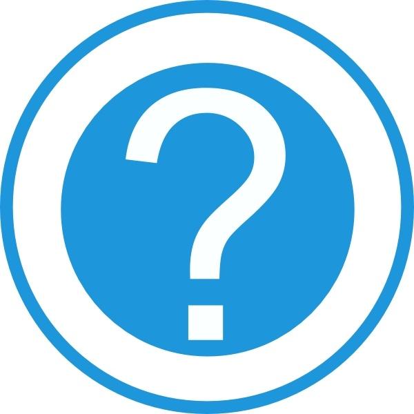 Blue Question Mark Clip Art Free Vector In Open Office