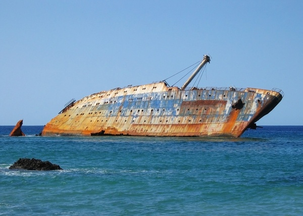 canary islands shipwreck ship