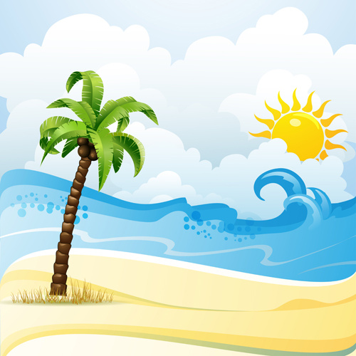 Cartoon Pictures Beach Free Vector Download 16985 Free