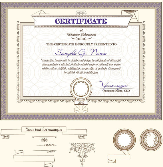Free Download Certificate Templates. Word Certificate Template 31