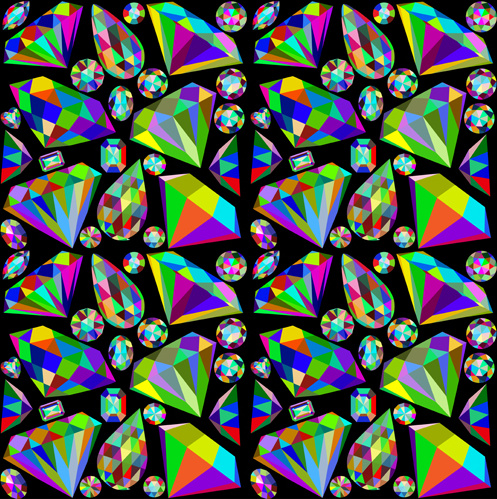 Vector Diamond Harlequin Pattern Free Vector Download