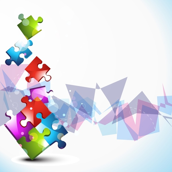 Colorful Puzzle Background Free Vector Download 56680