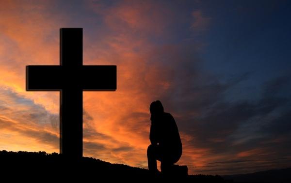 cross sunset silhouette