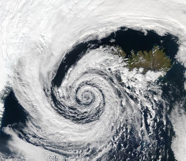 depression cyclone iceland