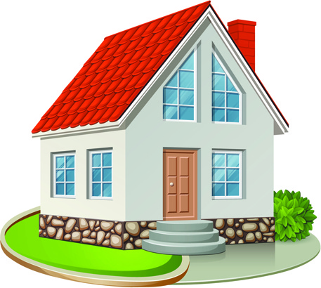 Different houses design elements vector Free vector in ... (457 x 410 Pixel)