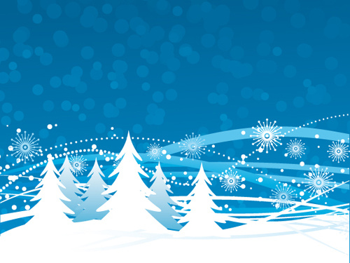 Purple Winter Snow Background Free Vector Download 46413