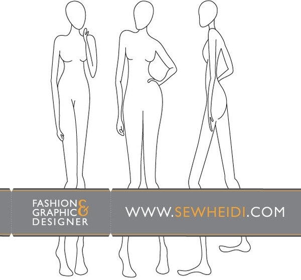 Blank Fashion Templates Fashion Drawing Templates Design Images Newspaper Headline Template For Powerpoint News Headlines Powerpoint Pin Toddler Chore Chart Template On Pinterest Female Fashion Croquis Blank Fashion Sketches 123freevectors