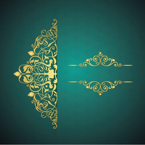 Golden Floral Free Vector Download 9759 Free Vector For