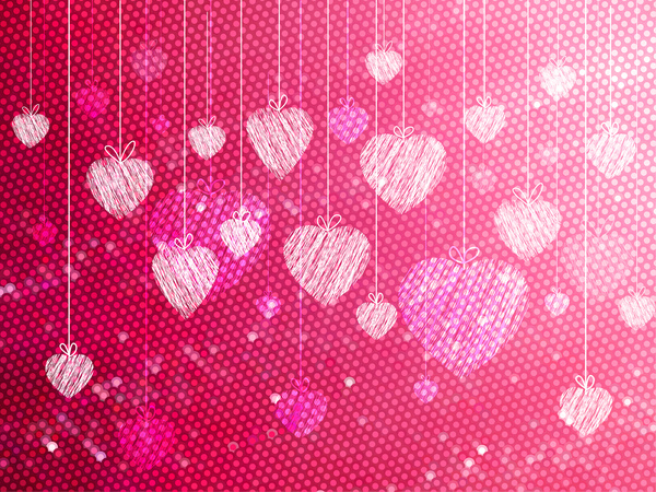 Hand Draw Heart Background Free Vector In Adobe