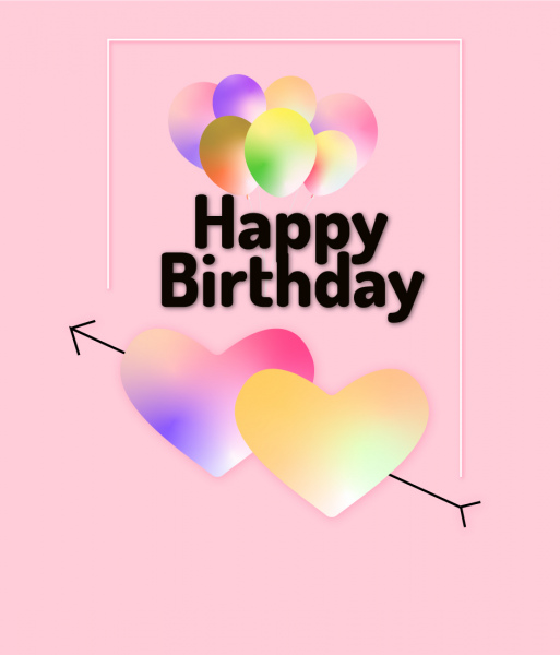 Happy Birthday Greeting Card For Loved One Free Vector In Adobe Illustrator Ai Ai Format Format For Free Download 1 19mb