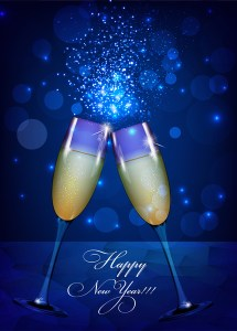 Happy new year background with wine glass Free vector in Adobe     happy new year background with wine glass