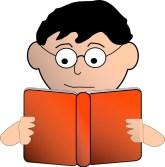 Image result for reading man cartoon