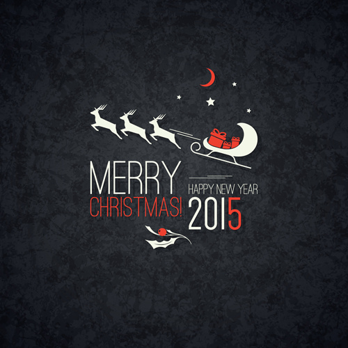 Merry christmas and15 new year dark background Free vector in     merry christmas and15 new year dark background