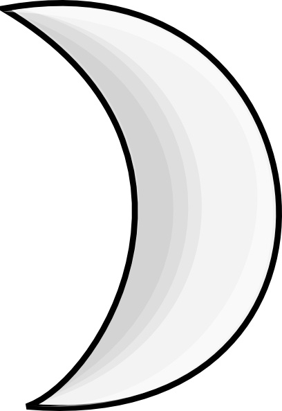 Moon Crescent Clip Art Free Vector In Open Office Drawing