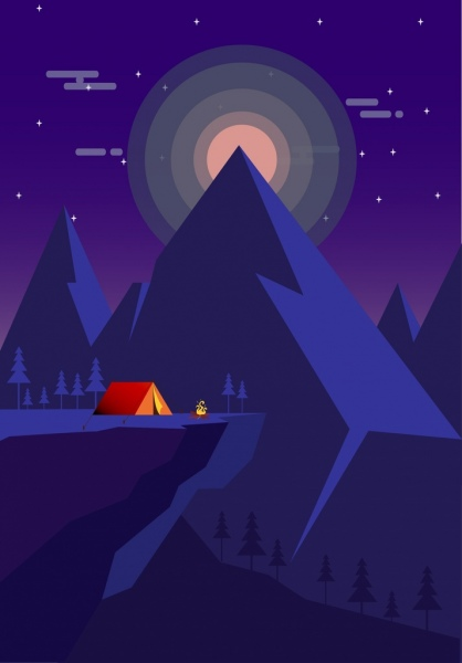 Mountain Range Realistic Drawing