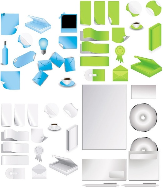 Office Supplies Vector Free Vector In Encapsulated