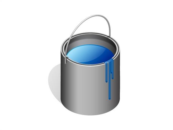 Paint Bucket Free Vector In Adobe Illustrator Ai Ai Vector Illustration Graphic Art Design