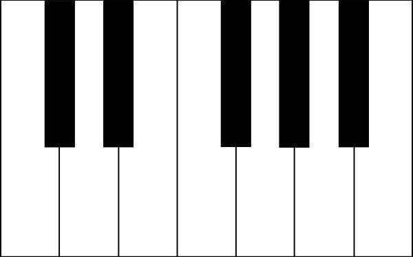 Piano Keys Clip Art Free Vector In Open Office Drawing Svg